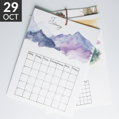 2018 Watercolor Calendar workshop // www.moderncraftcollective.com