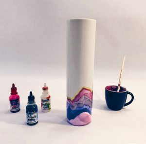 Alcohol Ink Ceramic Vessel // www.moderncraftcollective.com