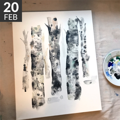 winter birch trees / www.moderncraftcollective.com
