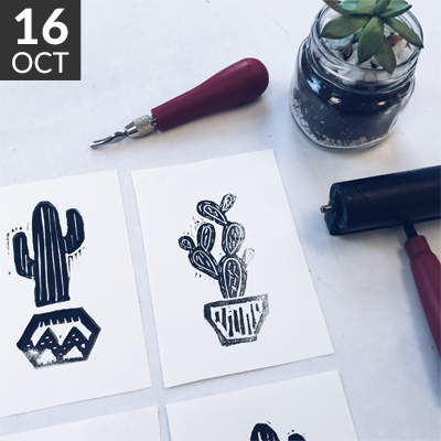 Hand Carved Stamp Workshop // www.moderncraftcollective.com