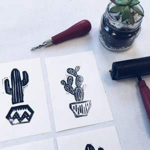 hand carved stamps // www.moderncraftcollective.com