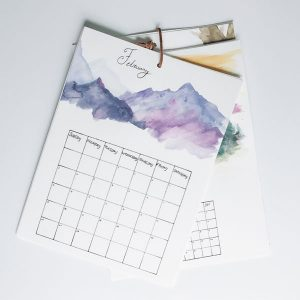 DIY Watercolor Calendar Workshop in Charlotte, NC