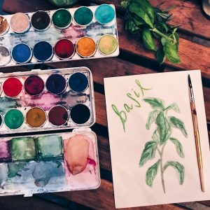 Watercolor Herb Workshop // www.moderncraftcollective.com
