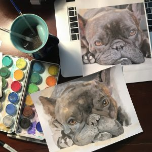 Watercolor Pet Portraits // www.moderncraftcollective.com