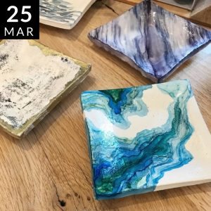 Modern Craft Collective // Alcohol Ink on Dishes