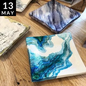 Alcohol Ink Coasters // Modern Craft Collective